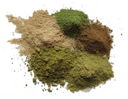 Some of Happy Hippo's Kratom Powders