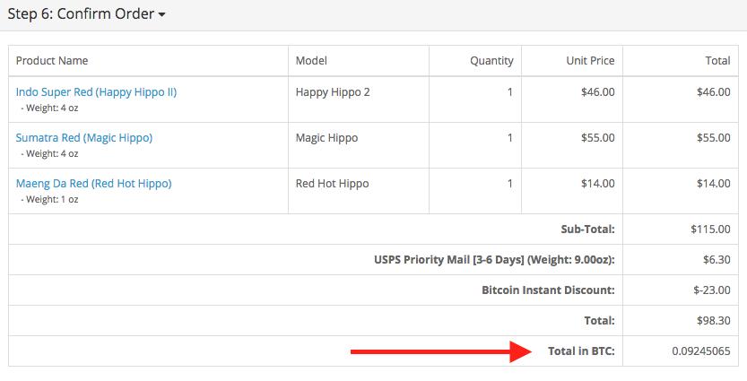 Kratom Bitcoin Dscount Applied