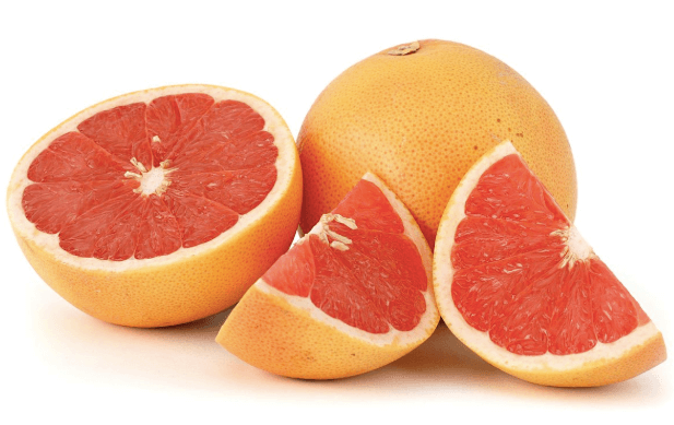 Pieces of grapefruit