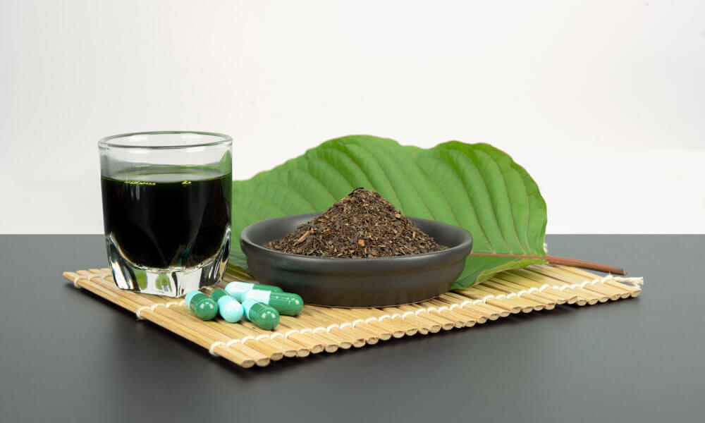 Selection of Kratom products