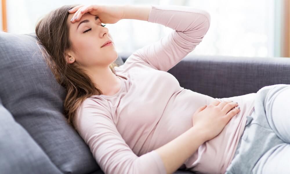 Woman Feeling the Alkaloid Effects