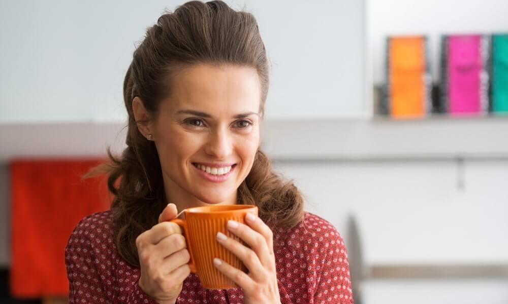 Lady drinking tea